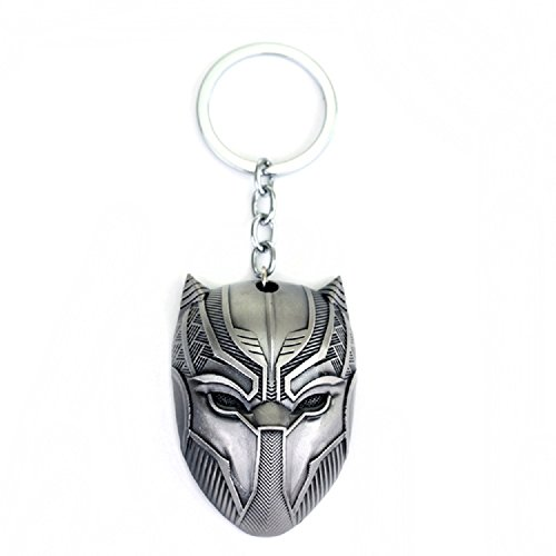 Black Panther Key Chain Game Movie Flim metal mask souvenir ()