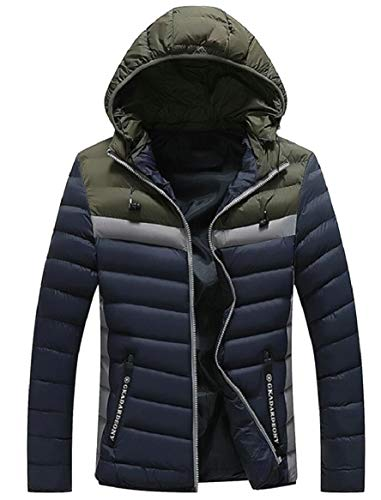 Coats Warm Quilted 1 Cotton Men's Winter Hooded Jacket Down security Thick Puffer 8t4Pw