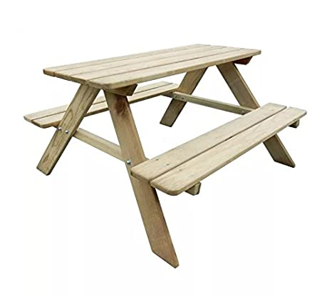 Wondrous Kids Picnic Table Outdoor Garden Furniture Childrens Dining Theyellowbook Wood Chair Design Ideas Theyellowbookinfo
