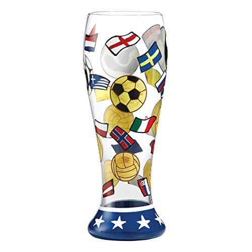 (Enesco Lolita Pilsner Glass Collection -The Beautiful Game Beer Glass -23cm - PIL-5515S)