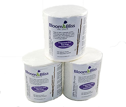 Bloom and Bliss 100 Percent Bamboo Bio-liner 3PK
