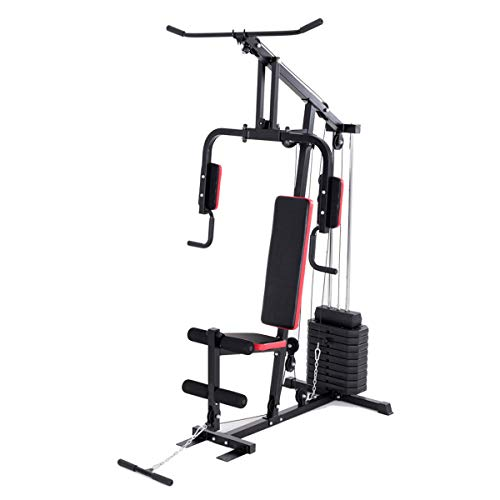Goplus Multifunction Home Gym System Weight Training Exercise Workout Equipment Fitness Strength Machine Total Body Training