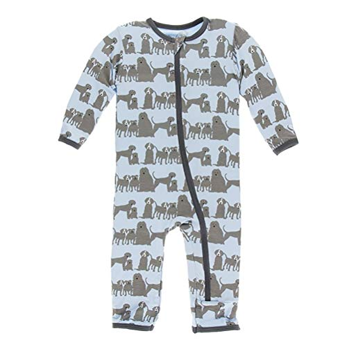 Kickee Pants Print Coverall with Zipper London Dogs