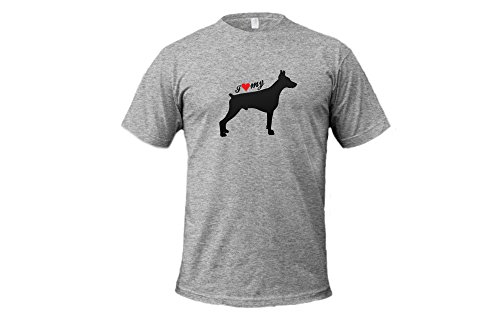 Dogs - I Love My Doberman - Unisex Adult Tshirt (Scottish Terrier Dog Names)