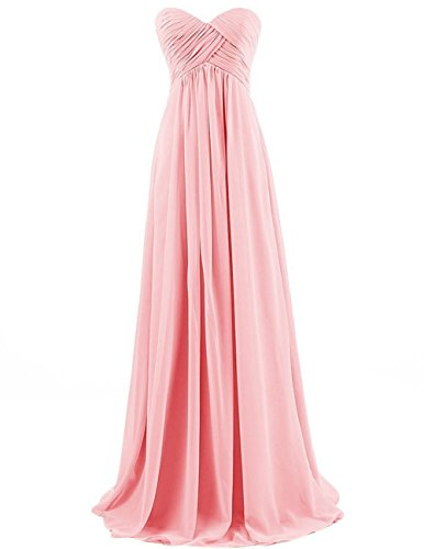 Cdress Sweetheart Bridesmaid Chiffon Prom Dresses Long Evening Gown Plus Size