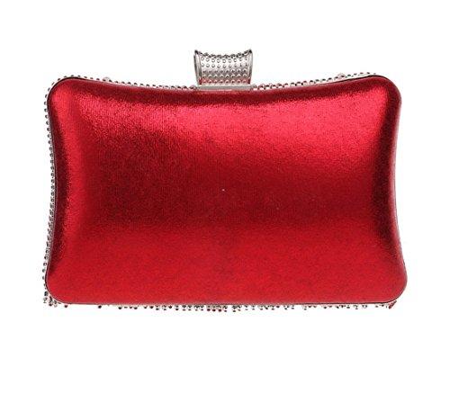 Sac à Bandoulière Mariage Clubs Prom Sac Pour Gland Pochette Perle Glitter Main Main Sac LOUHH À Nuptiale Diamante Femmes Red Sequin Soirée Dames à Cadeau t61qUax
