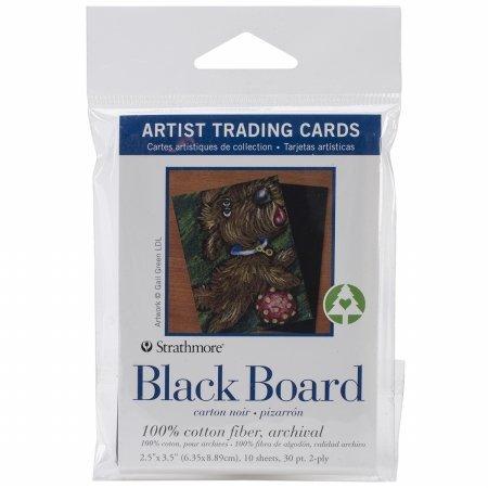 [해외]프로 아트 62105914 스 트 라 스모 어 블랙 아티스트 트레이딩 카드 10 매 들 ~ 2.5 x 3.5 인. / Pro-Art 62105914 Strathmore Black Artist Trading Cards 10-Pkg-2.5 in. X3.5 in.