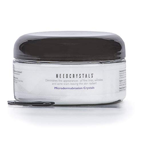 NeedCrystals Microdermabrasion Crystals, DIY Face Scrub. Natural Facial Exfoliator for Dull or Dry Skin Improves Acne Scars, Blackheads, Pore Size, Wrinkles, Blemishes & Skin Texture. 16 - Single Head Oxide Black