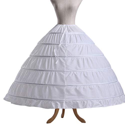Taffeta Wedding Quinceanera Dress - Sixinu 6 Hoops Petticoats Bustle Ball Gown Wedding Dress Underskirt Bridal Crinolines Taffeta