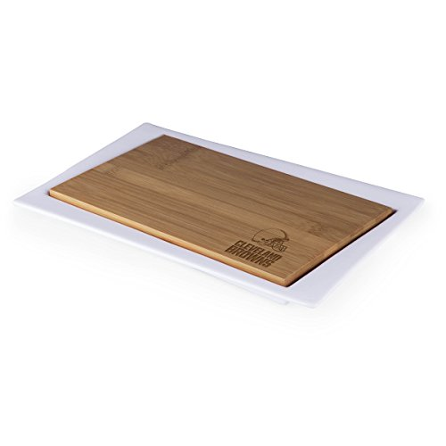 NFL Cleveland Browns Homegating Enigma Serving Tray with Offset Cutting Board