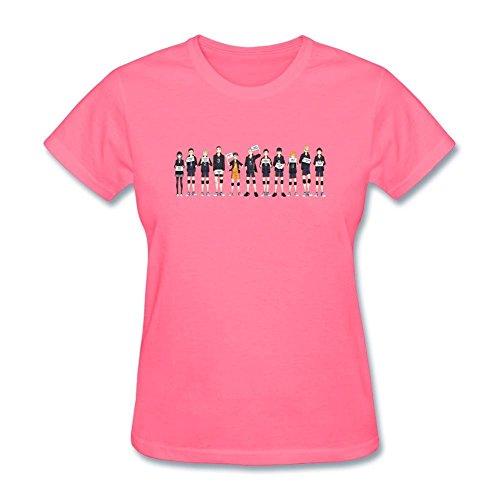 Tommery Women's Haikyuu Team Design Short Sleeve Cotton T Shirt