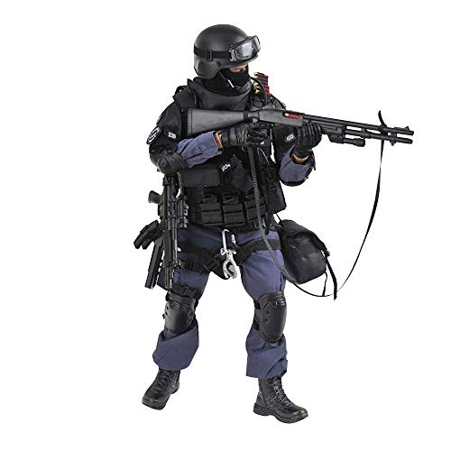 YEIBOBO ! Highly Detail Special Forces 12inch Action Figure SWAT Team (ASSUALTER)