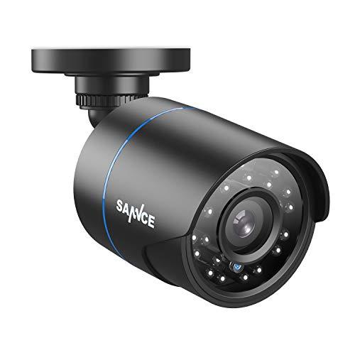 SANNCE 1080P 4-en-1 IP66 CCTV Cámara de Seguridad AHD/TVI/CVI/CVBS Cámara de Vigilancia Resistente Analógica Bala Negro 2MP Interior/Exterior 100 pies Visión Nocturna a buen precio