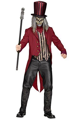 Scary Circus Ring Leader Costumes - Fun World Men's Freak Show Ringmaster,