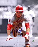 """Mike Trout Los Angeles Angels Signed Autographed 8"""" x 10"""" Sliding Photo"""