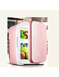 SL&BX 15l car refrigerator,Mini fridge small home refrigerator car dual-use hostel mini refrigerator small freezer cooler fridge-pink 42x30x32cm(17x12x13inch)