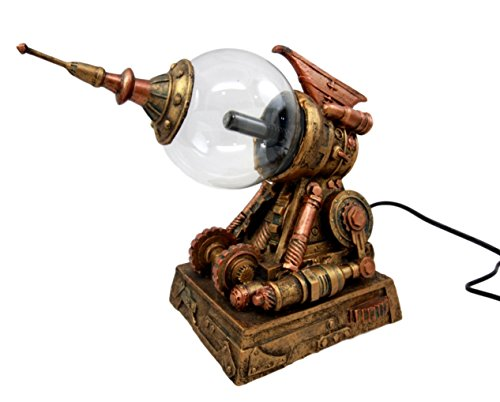 "Ebros Steampunk Electric Plasma Laser Static Storm Ball Blaster Gun Decorative Steampunk Gun Accent Lamp Figurine 8.25"" L 4"