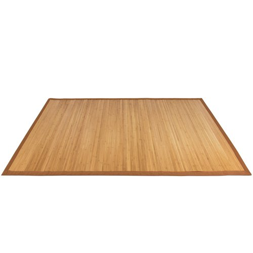 Best Choice Products Bamboo Area Rug Carpet Indoor Outdoor Wood 5 X 8