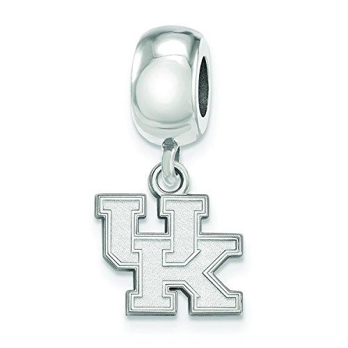 (LogoArt Sterling Silver Kentucky Wildcats XS Dangle Bead Charm)