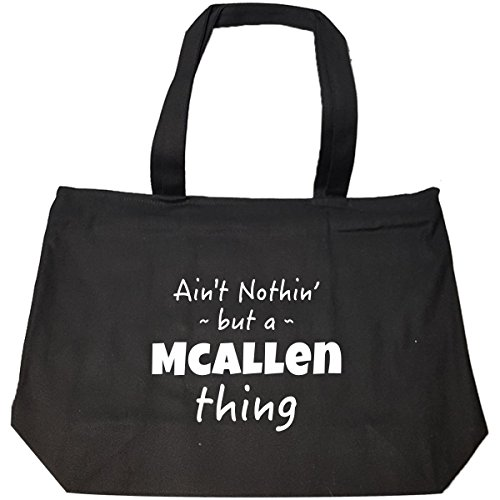 Mcallen Thing Hometown Pride Design - Tote Bag With Zip (Mcallen Goods Home)