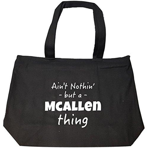 Mcallen Thing Hometown Pride Design - Tote Bag With Zip (Home Goods Mcallen)