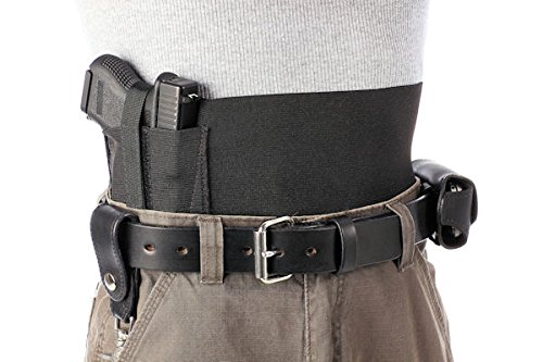 Daltech Force Safestcarry Belly Band Holster - Concealed Carry Gun Holster for Hips, Waist or Chest, Black (Medium)