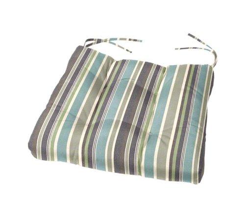 15 x 15 x 3 Tufted Sunbrella Chair Cushion Sunbrella Brannon Whisper