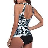 Women Floral Tankini Tummy Control Swimwear Tank