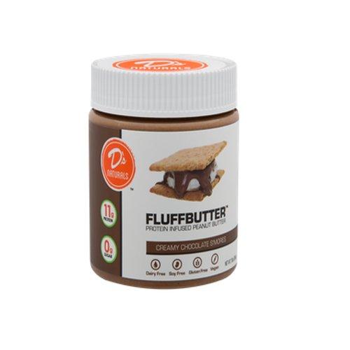 D's Naturals Creamy Chocolate S'mores Fluffbutter, 10 Ounce