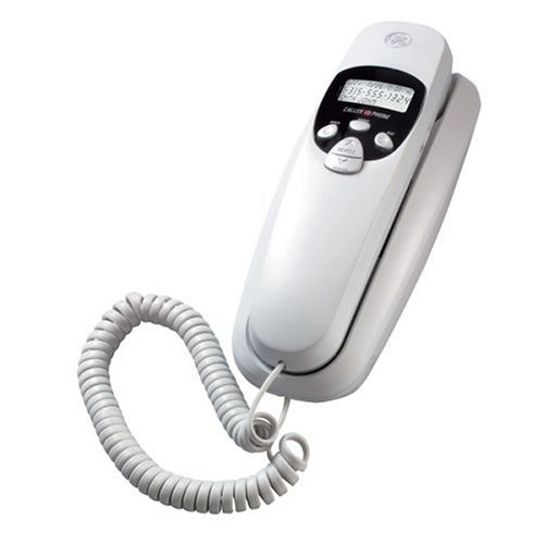 GE Corded Slimline 29263GE1 Phone with Caller ID - White