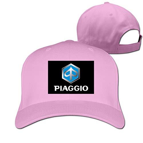 HANRUI Design Piaggio Emblem Logo Geek 100% Cotton Cricket Cap for Unisex Pink