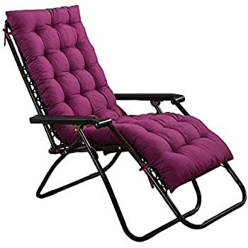 Amazon.com: nipate Lounge Cushions Solid Color Chaise ...