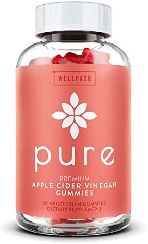 Pure Apple Cider Vinegar Gummies - with Raw, Organic, Unfiltered ACV from The Mother - Gummy Alternative to Apple Cider Vinegar Capsules, Pills, Tablets - Detox, Cleanse Support, Immunity