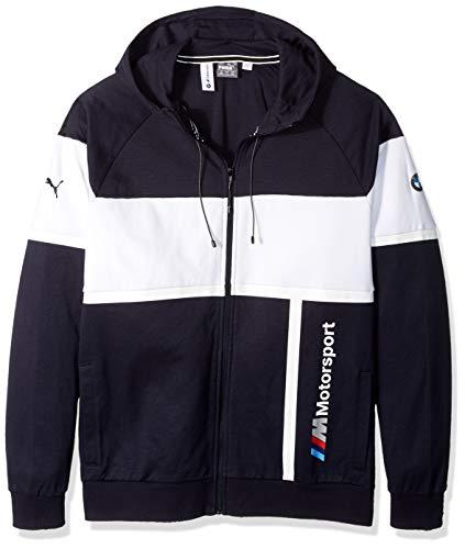 (PUMA Men's Standard BMW Motorsport Hooded Sweat Jacket, Team Blue, M)