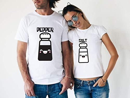 National Best Friend Day Best Friend Pepper Salt Matching Couple Customized Handmade T-shirt Hoodie/Sweater/Long Sleeve/Tank Top/Premium T-shirt For Kids Adults ()