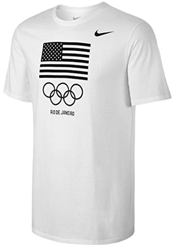 Team USA Nike Flag Rings T-Shirt (White, Medium)