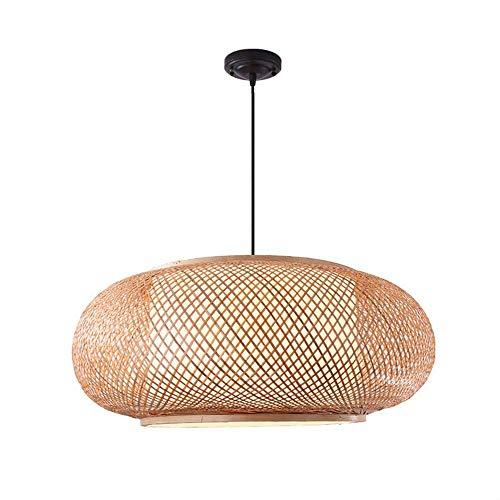 VISTANIA Pantalla De Bambú Hecha A Mano, Colgante Techo De Mimbre De La Lámpara Persianas Tejer Luz Colgante