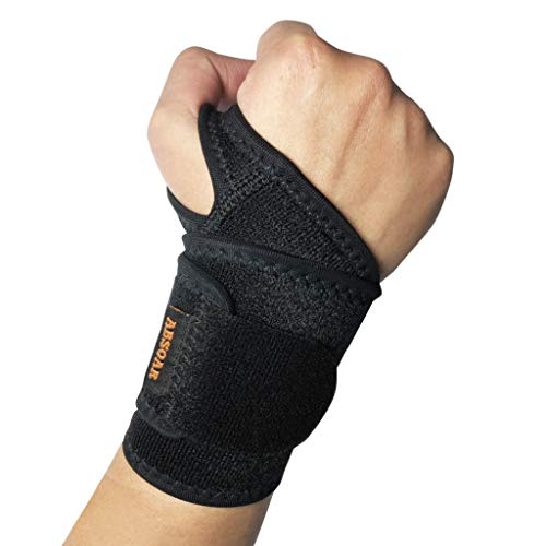 ABSOAR Wrist Support Strap Wrist Brace for Carpal Tunnel Wrist Brace for Carpal Tunnel Adjustable fits Both Right and Left Hands