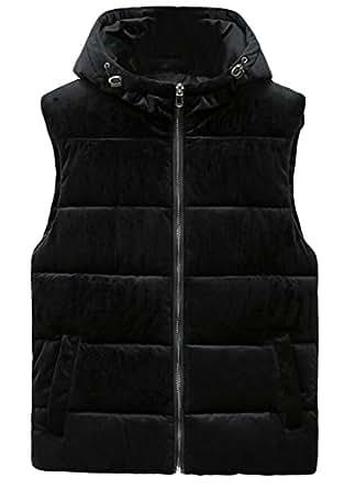 S-Fly Men's Winter Zip-Up Corduroy Padded Warm Down Vest