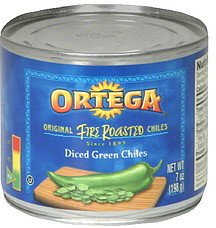 (Ortega, Canned Green Chiles, Fire Roasted Diced, 7oz Can (Pack of 4) (Select Size Below) (Fire Roasted Diced Green Chiles 7oz Can))