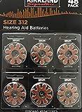 Kirkland Signature 1.45 Volt Mercury Free Premium Quality Hearing Aid Batteries, 312 (48-Pack)
