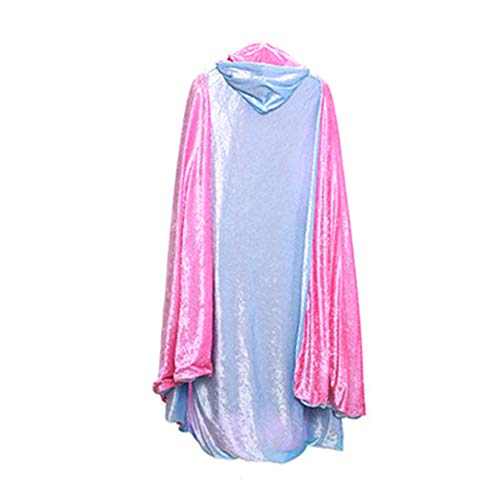 Everfan Adult Hooded Cloak | Double Sided Hooded Cape Costume (Light Blue)]()