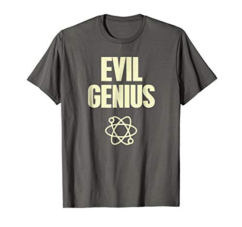 Funny Evil Genius T-Shirt With Atomic Symbol Mad Scientist -
