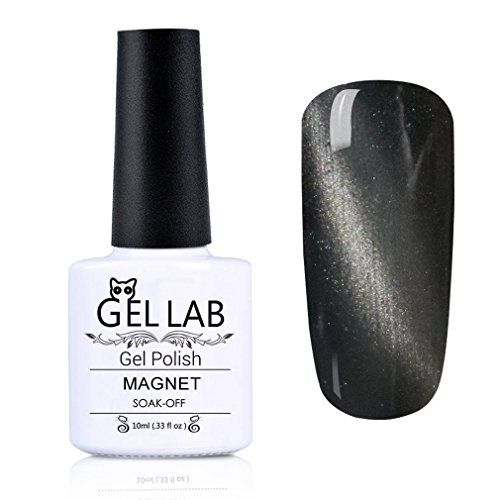 GEL LAB Soak Off Magnetic Gel Nail Polish UV LED 3D Cat Eye