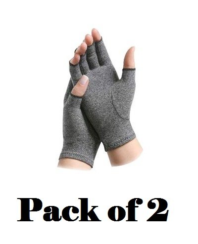 Brownmed Imak Compression Arthritis Gloves, XS, 2 Count (Pack of 2)