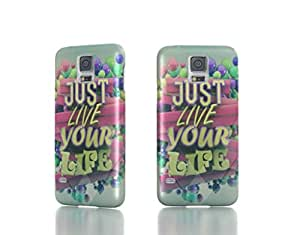 Just Live Your Life - Samsung Galaxy S5 i9600 Back Cover Case - Full Wrap Design WANGJING JINDA
