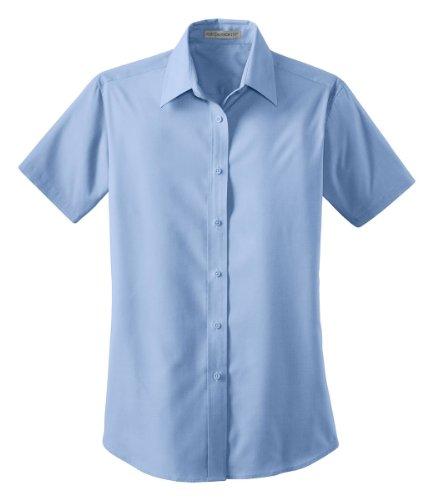 Port Authority - Ladies Short Sleeve Value Poplin Shirt. L633 - Light (Value Poplin Shirt)