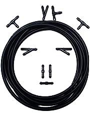 KASturbo Uniwersalny zestaw naprawczy do szyb przednich, 9 złączy węża i 3 m rura spryskiwaczy do podłączenia pompy wodnej i dysz