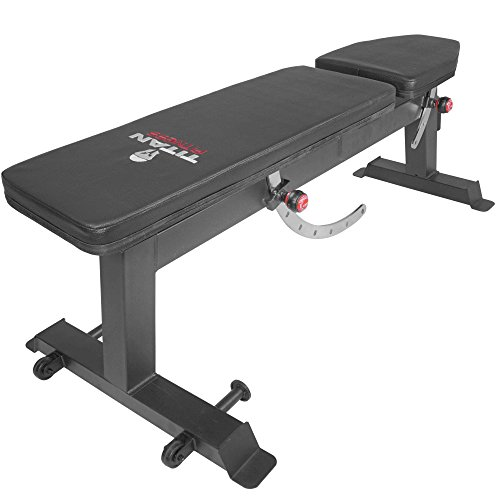Titan Fitness Adjustable Flat Incline Weight Bench 650 lb Rated Capacity by Titan Fitness (Image #4)