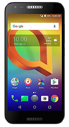 Alcatel A30 GSM Unlocked Smartphone (AT&T/T-Mobile) - Black (Certified Refurbished) by Alcatel's